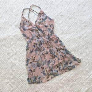 Floral Open Back Mini Dress